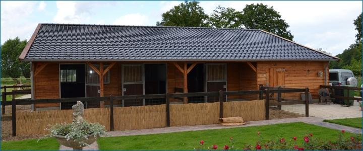 Tuinhuisjes overkappingen for Te koop woning met paardenstallen